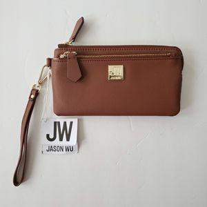 Jason Wu Double Zip Cognac Wallet
